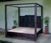Black Bamboo Canopy bed & Black Bamboo Canopy bed - Artistry in Bamboo